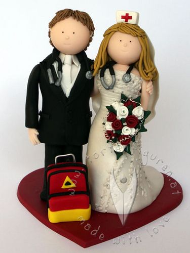 Krankenschwester Sanitater Brautpaar Grooms Cake Ideas Pinterest