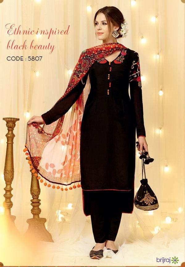4a306f3a3b Suits | Brijraj Suits | Black salwar suit, Designer salwar suits ...