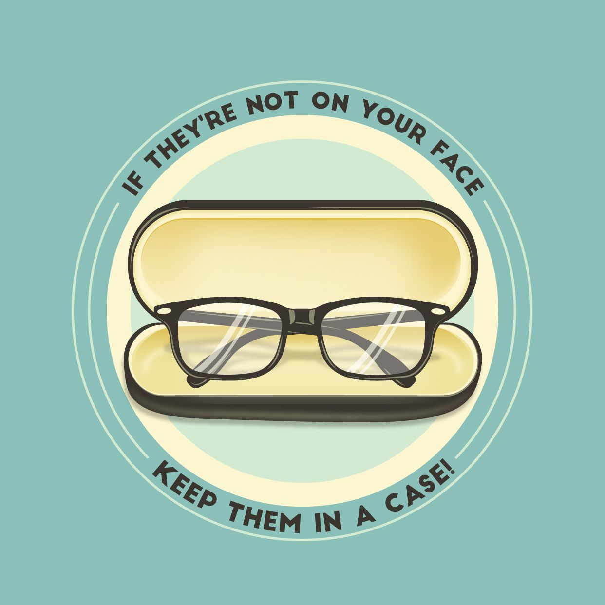 Don T Risk Breaking Your Glasses Be Sure To Keep Them In A Case When They Re Not On Your Face To Avoid Any Accidents Glasses Optometry Eye Facts