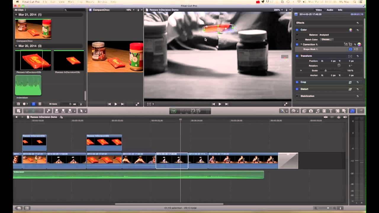 Shape Mask 02 -Final Cut Pro X - Key Framing Shape Mask | Final Cut ...