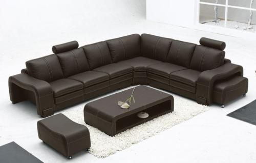 Details About Ultra Modern Italian Leather Sectional Sofa