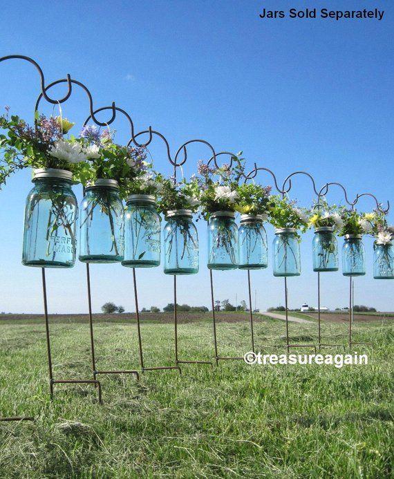DIY Hanging Vases Ball Einmachglas Hanging Flower Frog Deckel, für Kerzen, Blumen, Laternen, Einmachglas Hochzeiten, 12 oder mehr   – Wedding decorations