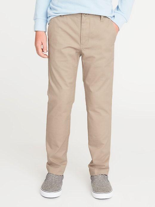 e762458ea2 Old Navy Boys' Skinny Built-In Flex Uniform Pants Shore Enough Size 12