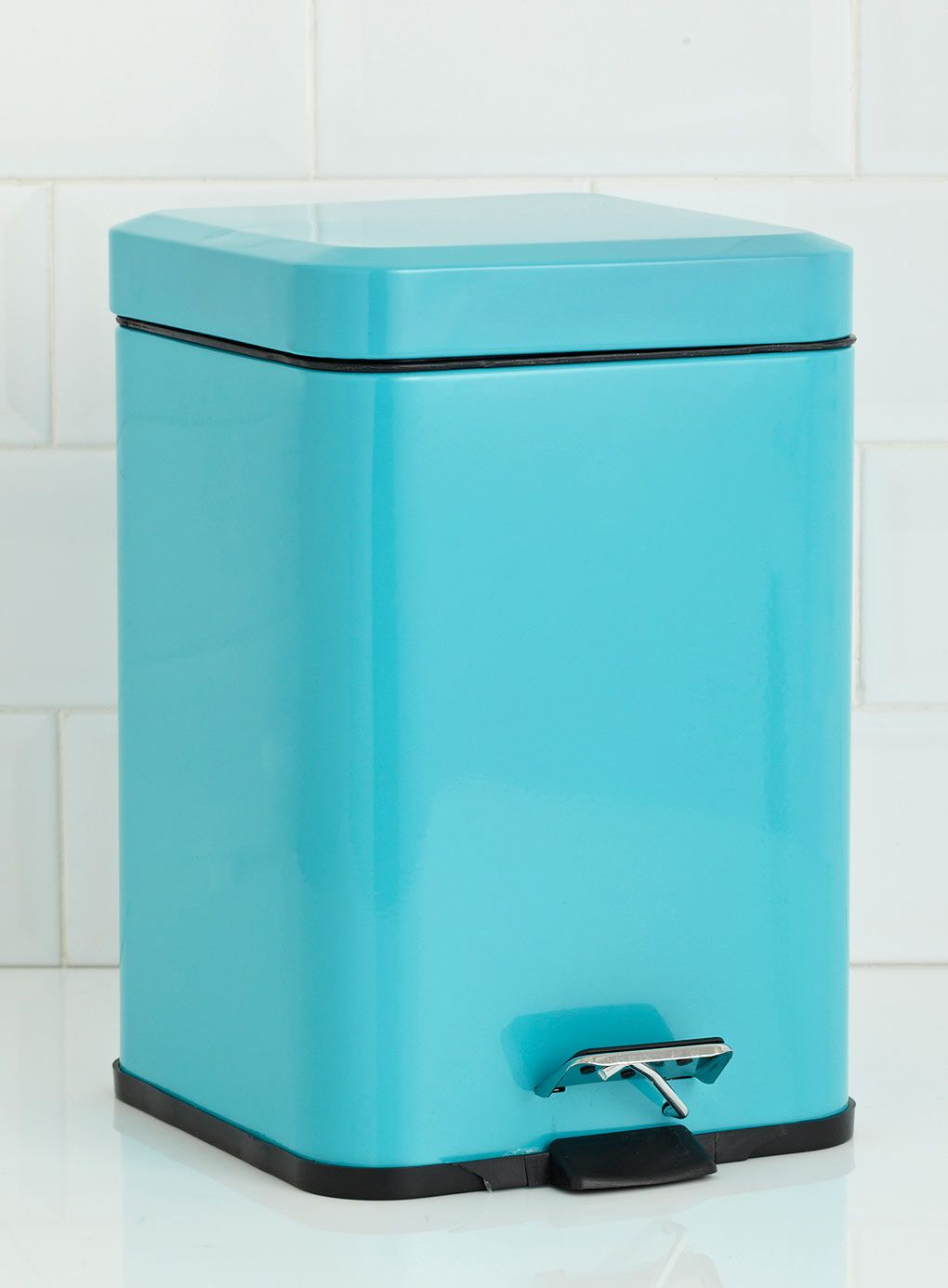 6 Litre Rounded Square Pedal Bin Turquoise | TURQUOISE Dream ...