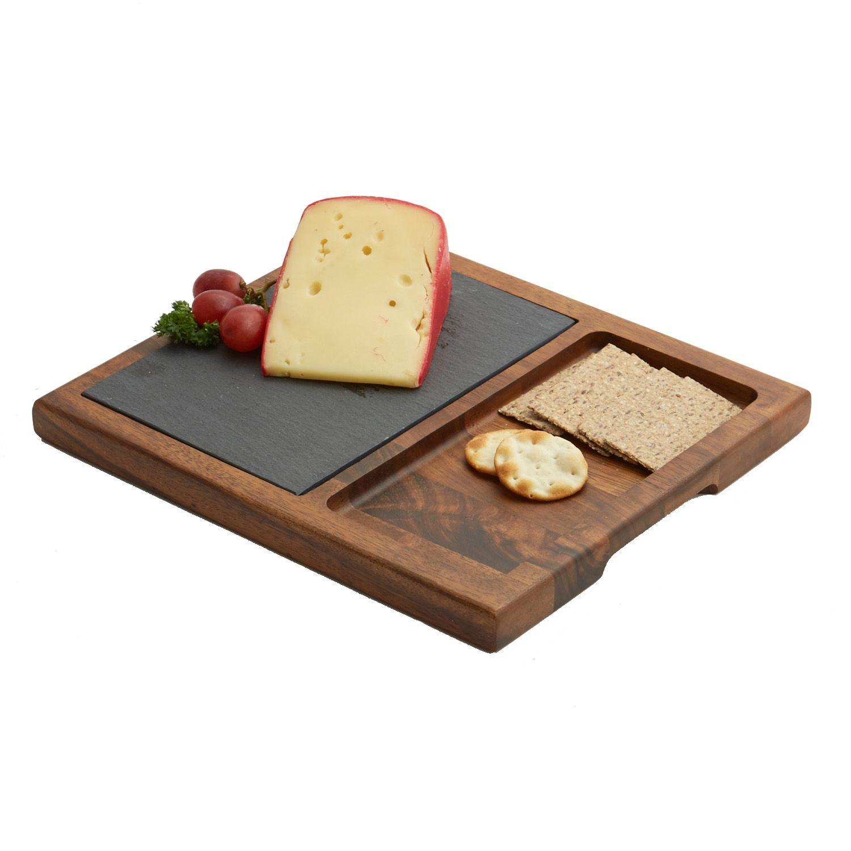 acacia wood slate cheese board 12inch