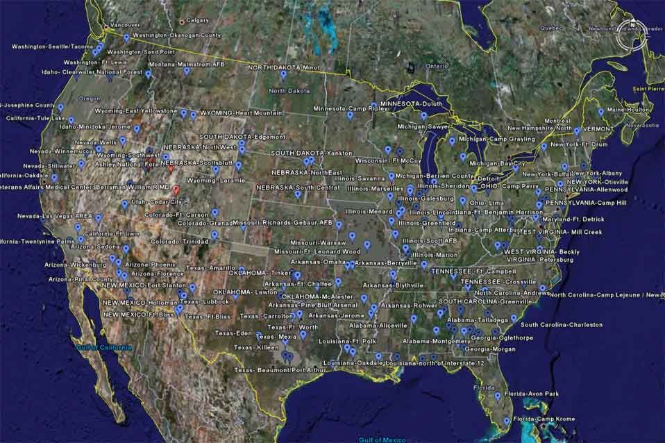 FEMA CONCENTRATION CAMPS LOCATIONS AND EXECUTIVE ORDERS There - Us fema instilation maps includi hawaii