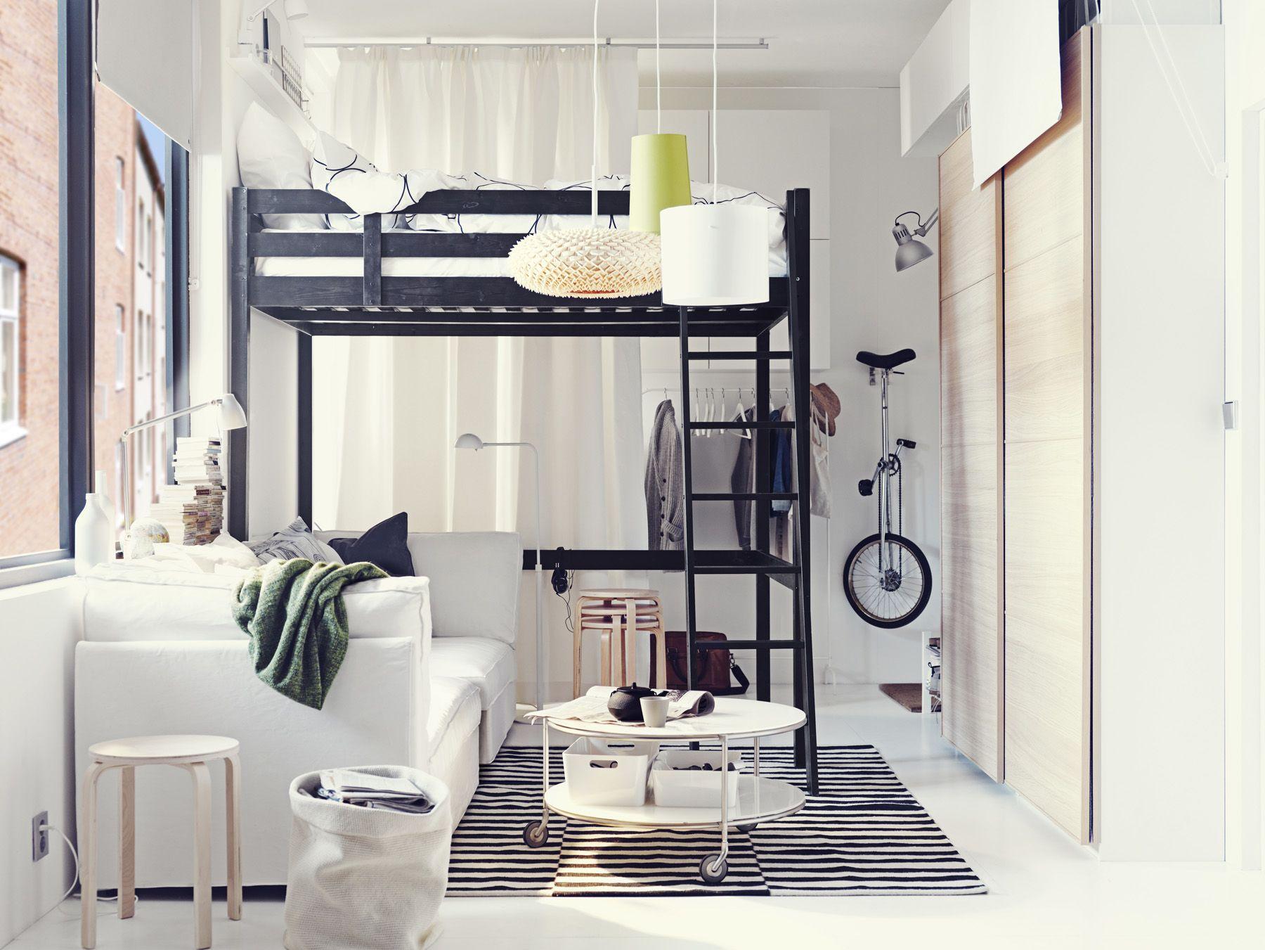 hochbett im jugendzimmer zimmerideen pinterest jugendzimmer hochbetten und jugendzimmer ikea. Black Bedroom Furniture Sets. Home Design Ideas