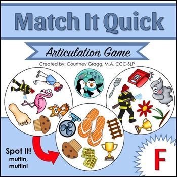 Engaging speech therapy game for working on /f/. Great for kids working on carryover!