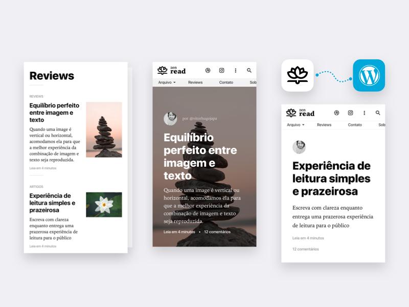 Zen Read WordPress Theme - WordPress theme, WordPress theme design, Theme - 웹