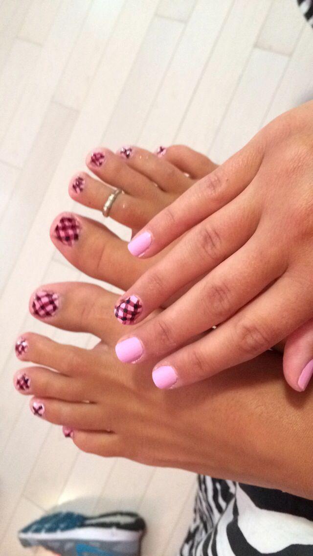 Pink Checkered Nails Unhas Xadrez Unhas