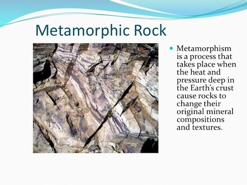 PowerPoint Metamorphic Rock    Science   Technology lessons