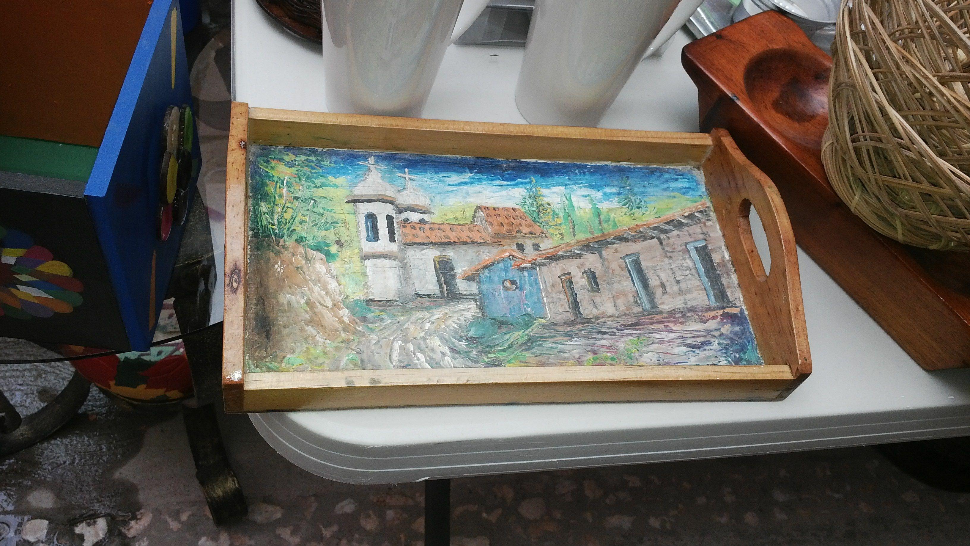 AZAFATE DE MADERA DE PINO CON PINTURA DE OLEO: artesanía hondureña ...