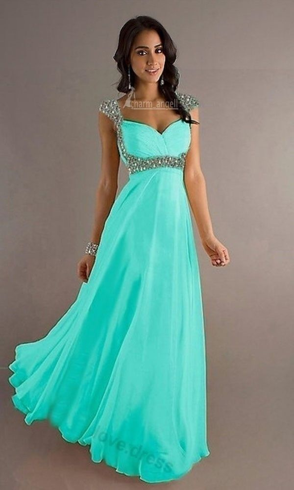 Cyan Prom Dresses