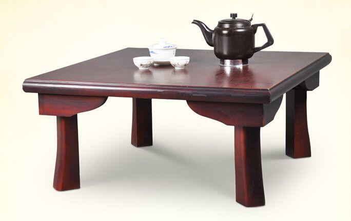 Pas cher Asiatique meubles en bois japonais Table à manger pliage
