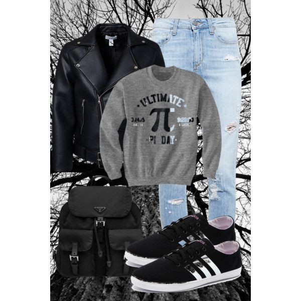Sin título #29 by mgg121191 on Polyvore featuring moda, Paige Denim, adidas NEO and Prada