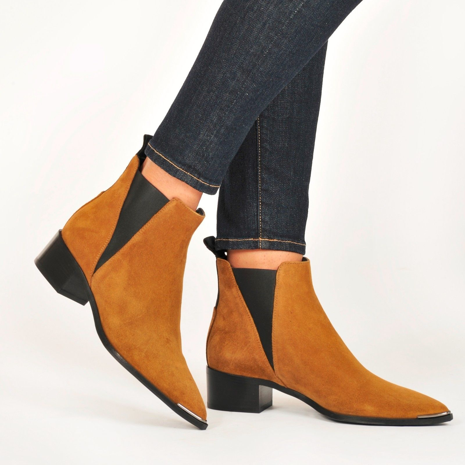 a4cd7ef347 New ACNE STUDIOS ~ Jensen' Pointy Toe Bootie Shoes, Camel Suede, EUR 37