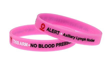 Lymphedema Alert Bracelet Gold Phrase Axillary L Ymph Nodes This Arm No Blood