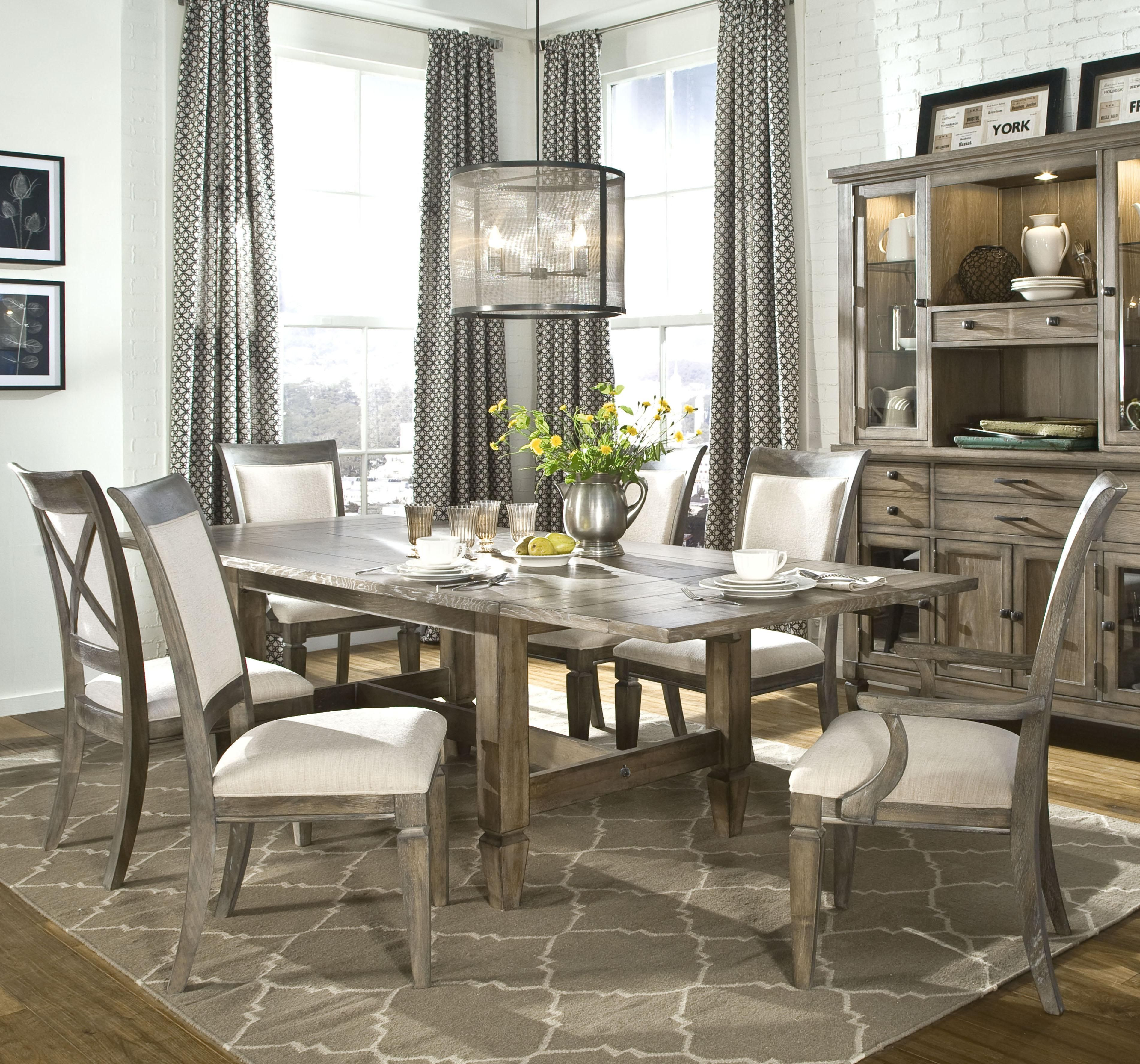 Brownstone Village 7-Piece Trestle Table and Dining Chair ...