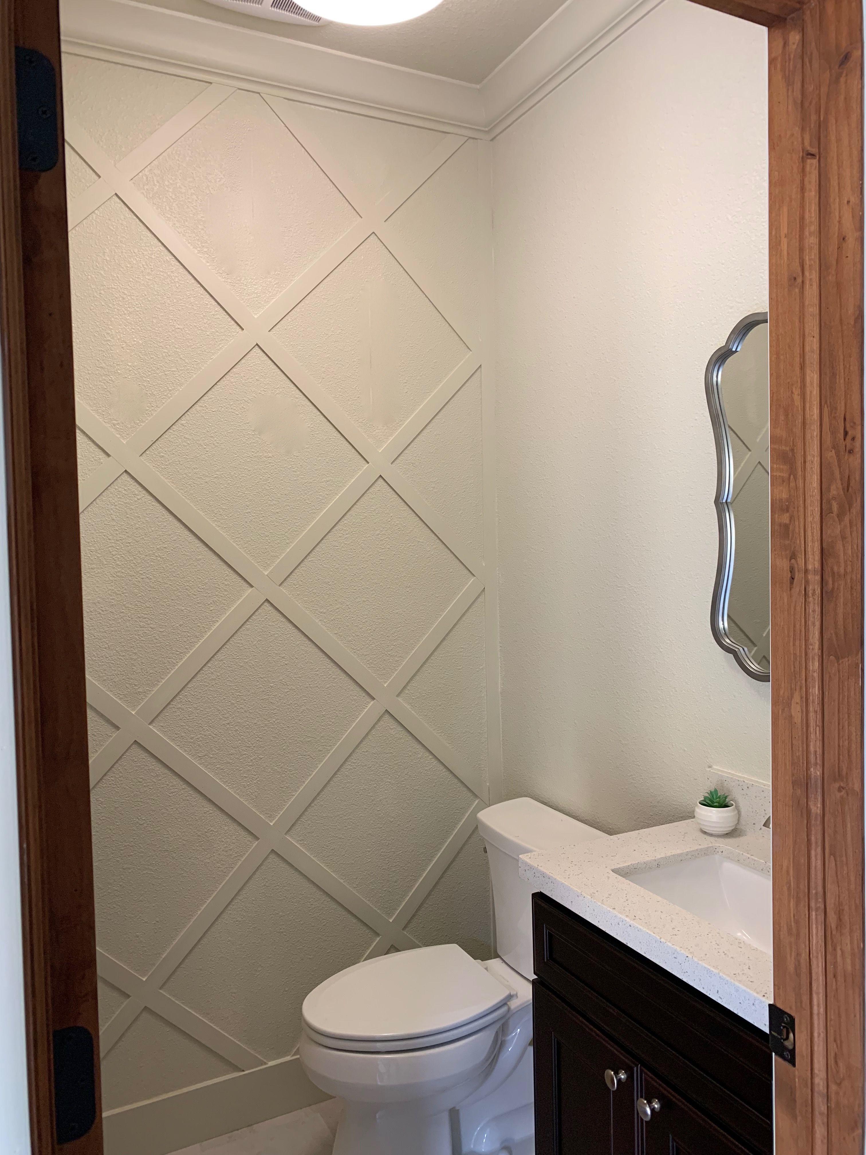 Pin On Powder Room Half bedroom wall tiles