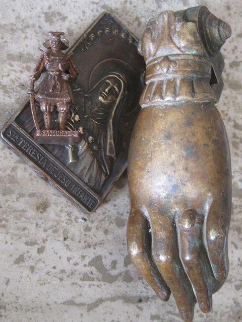 Brass Door Knocker Flea Market Find by peregrine blue, via Flickr