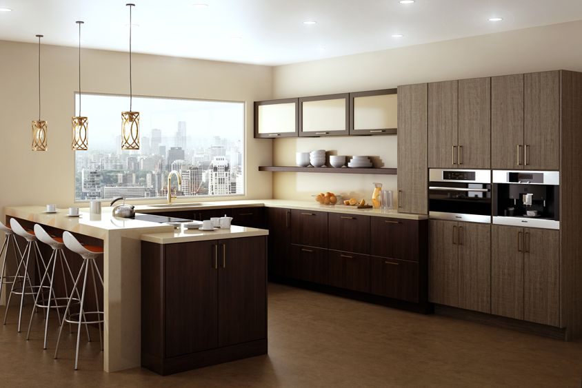 An Urban Loft Kitchen Remodel With Dura Supreme Cabinetry Shown With The  Moda Cabinet Door With