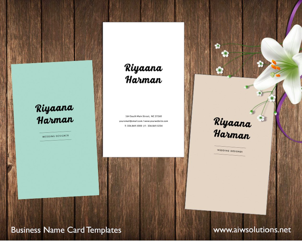 Simple Business Card Template Name Card Template By Aiwsolutions - Diy business card template