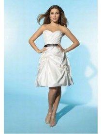 Prinzessin Kurz Taft Liebsten Gefaltet|Pick Ups Brautkleid Standesamt