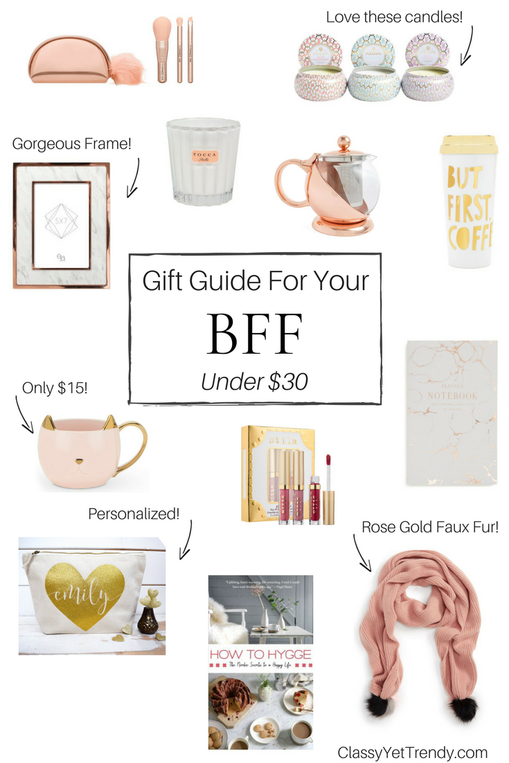 Gift Guide For Your Bff Under 30 Best Friend Gifts