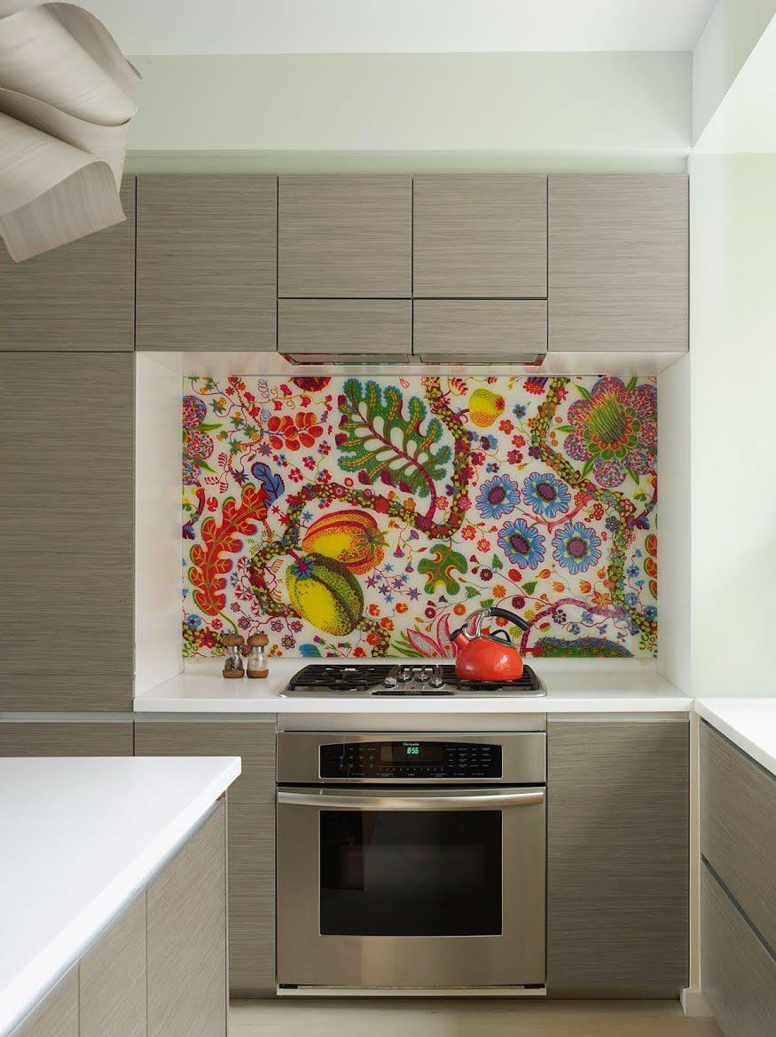 Bohemian Apartment By Incorporated 4 Colorful Kitchen Backsplash Eclectic Kitchen Kitchen Backsplash Designs