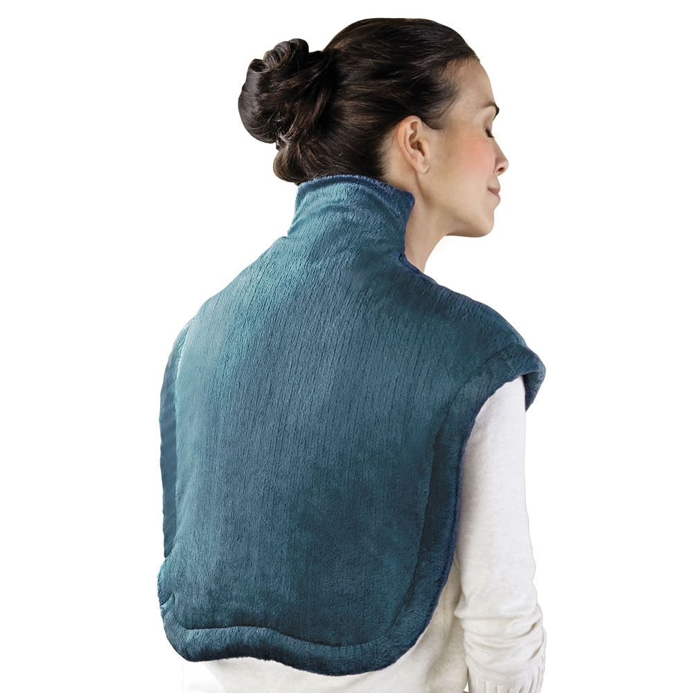 The Neck And Shoulder Heat Wrap Hammacher Schlemmer
