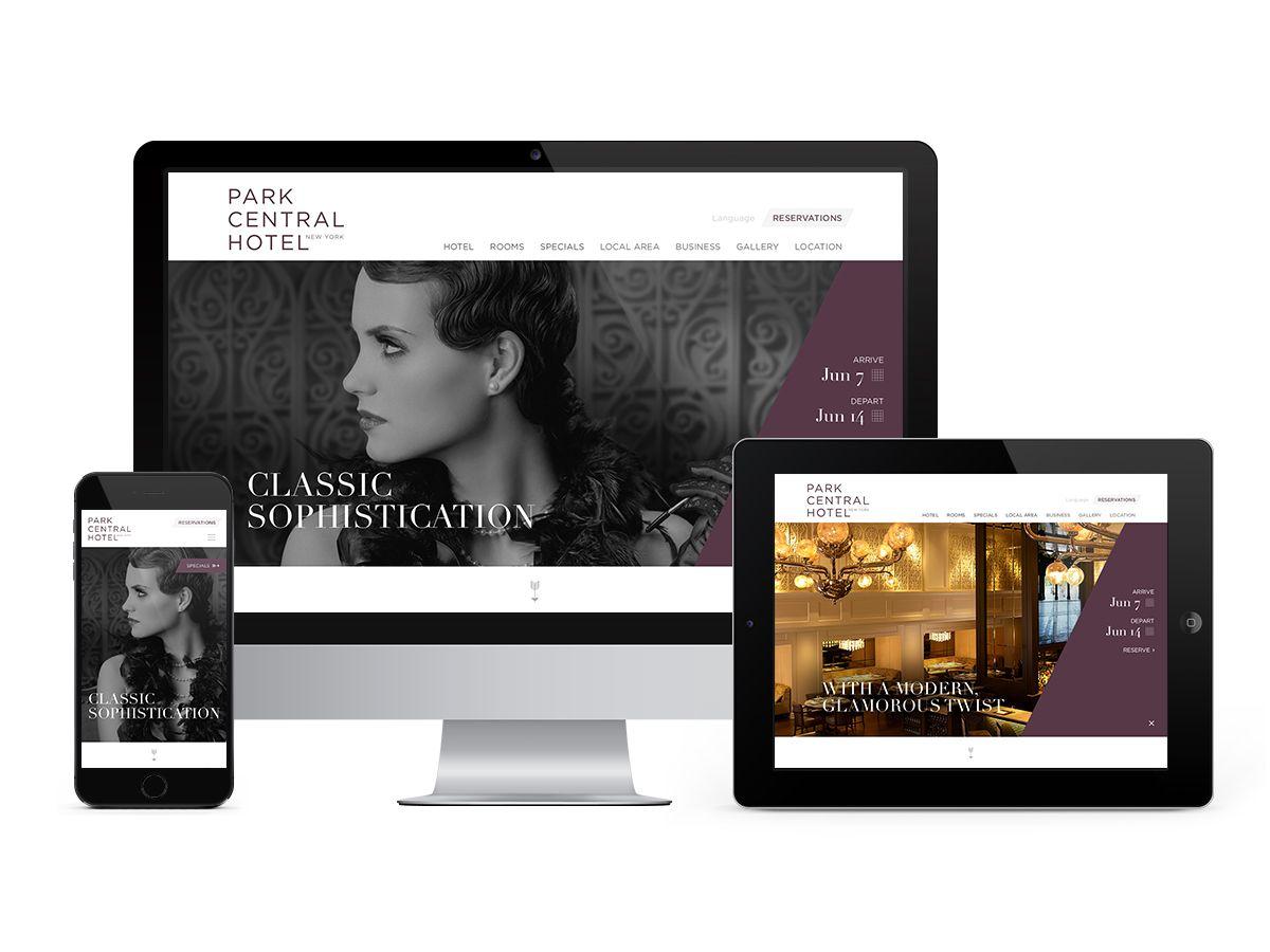 Park Central New York Hotel Specials Responsive Website Design Central Park