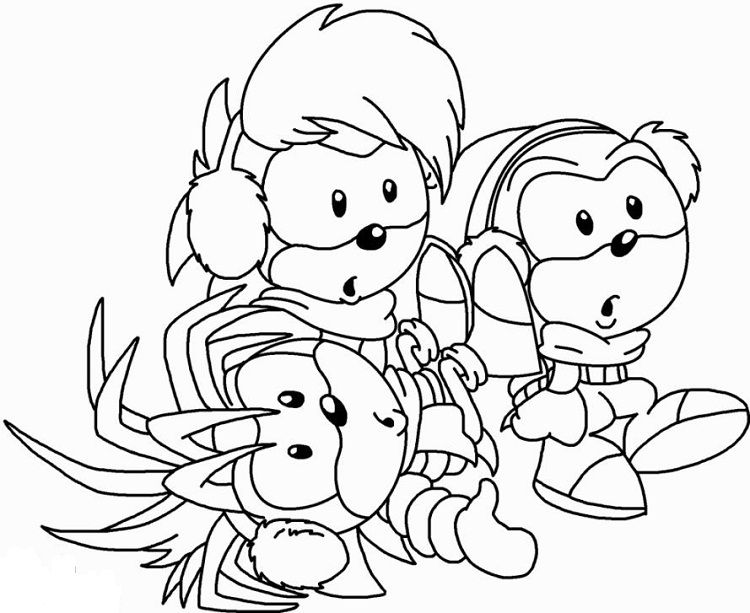 Baby Sonic Coloring Pages Hedgehog Colors Coloring Pages Sonic Underground
