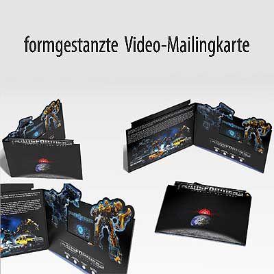 Video in Print - Formgestanzte Video-Mailingkarte Video-Werbekarte ...