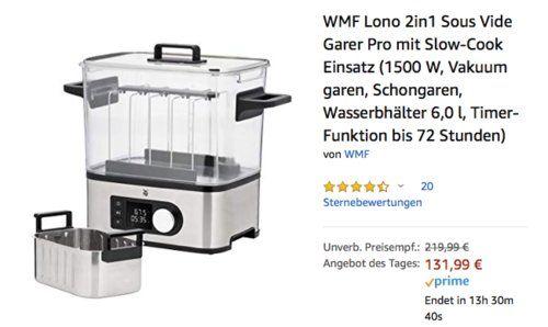 WMF Lono 2in1 Sous Vide Garer Pro mit SlowCook Einsatz, 6