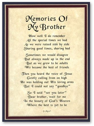 Memorial Quotes For Brother Virtual Memorials