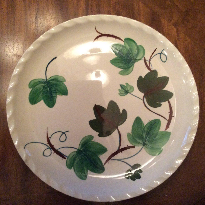 Blue Ridge Pottery Dinner Plate Highland Ivy, Handpainted
