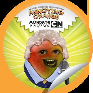 Steffie Doll S The Annoying Orange Bad News Pears Sticker Getglue Annoying Orange Bad News Annoyed