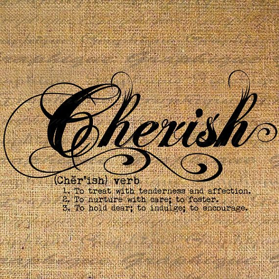 what does the word cherish mean