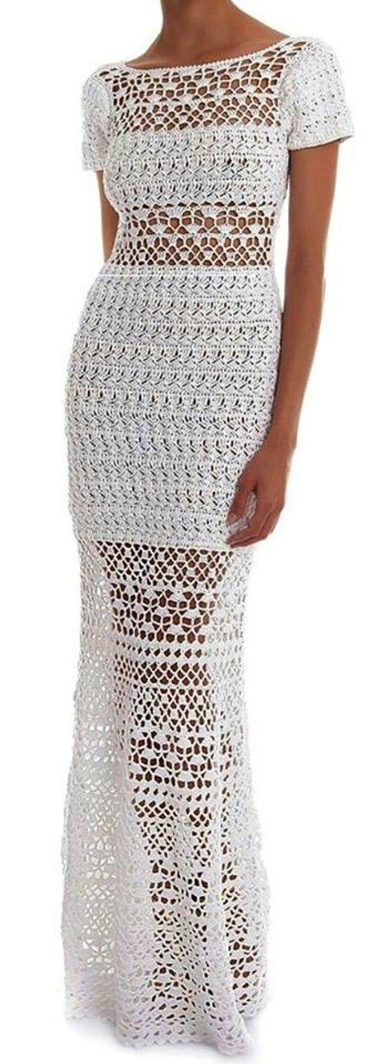 Summer drees, wedding dress , gift ideas ,handmade, crochet drees ,bridal clothing
