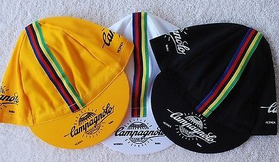 Hats Caps and Headbands 158994: Classic Cycling Caps Trio Black White Yellow Hats New ** BUY IT NOW ONLY: $49.95