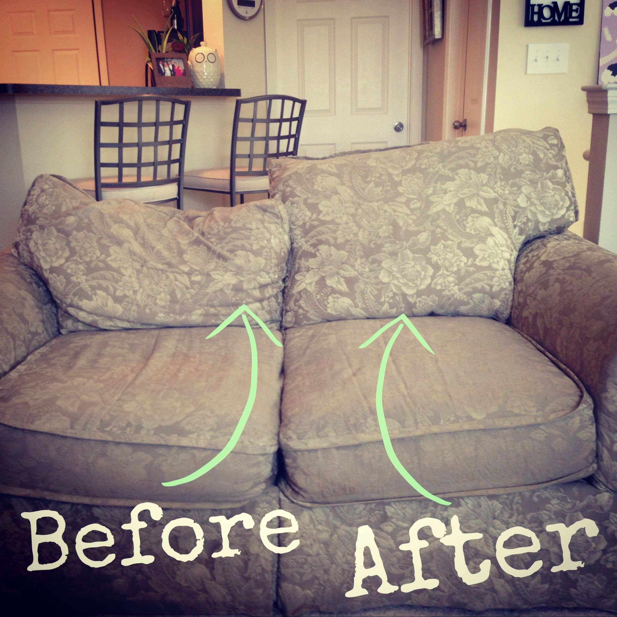 Easy Fix For Sagging Couch Back Cushions Fix Sagging Couch