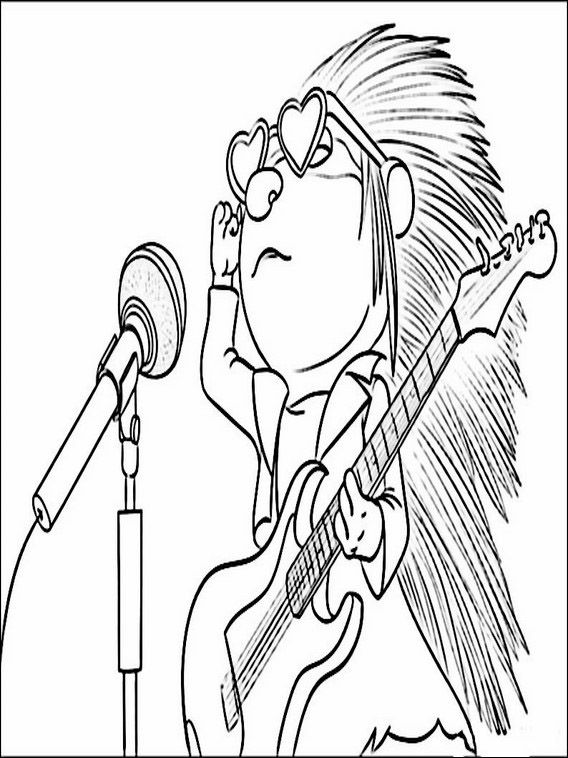 Sing Coloring Pages 2 | Coloring pages for kids | Pinterest