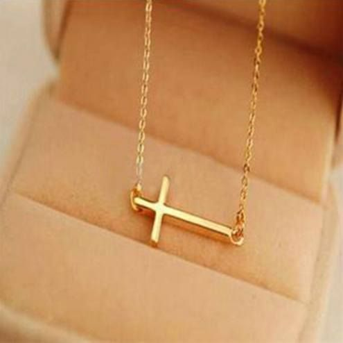 895a8db4a362 Sideways Faith Cross Necklace