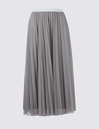 d132e49587 Tiered Mesh A-Line Maxi Skirt in 2019 | Fashion | Skirts, Fashion ...