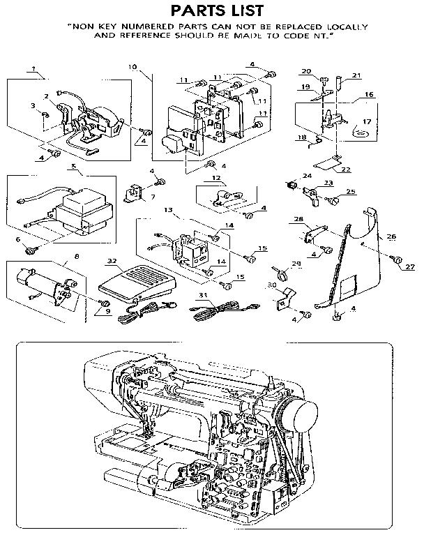 Kenmore Sewing Machine Parts Pleasing Kenmore Sewing Machine Parts