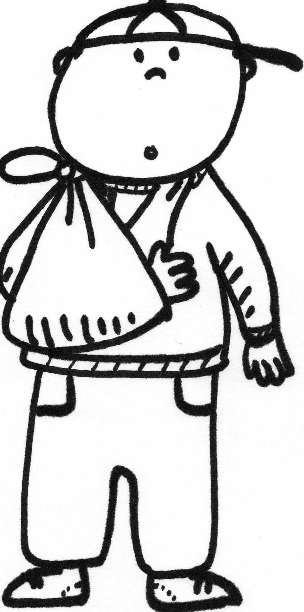Coloring Page of Broken Arm | Kid\'s Safety | Pinterest | Arms and ...