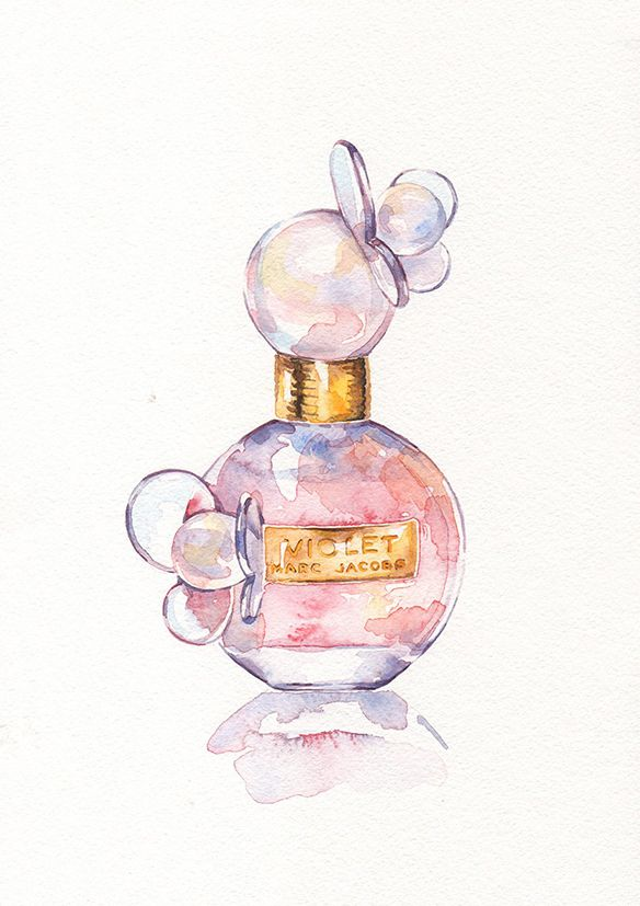Perfume And Water Tattoo: Perfume Bottle Illustrations On Behance In 2020