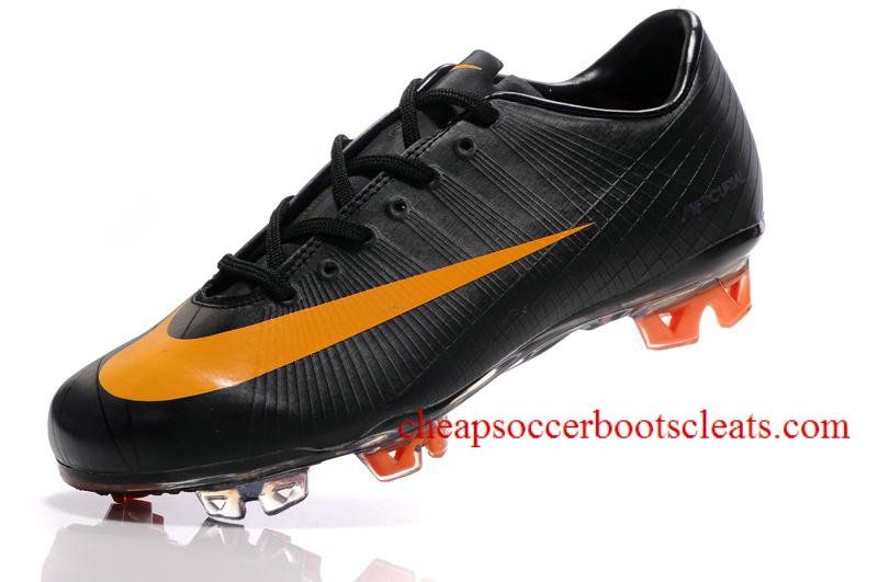 Nike Mercurial Vapor Superfly Ii Fg Soccer Cleats Black Circuit Orange Black Soccer Cleats Superfly Cleats