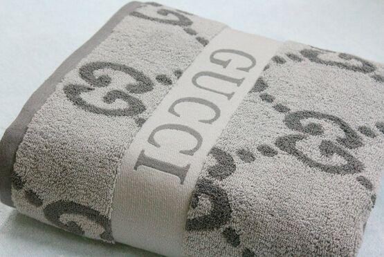 Gucci Bath Towel Gray Luxury Towels Shower Curtain Decor Towel