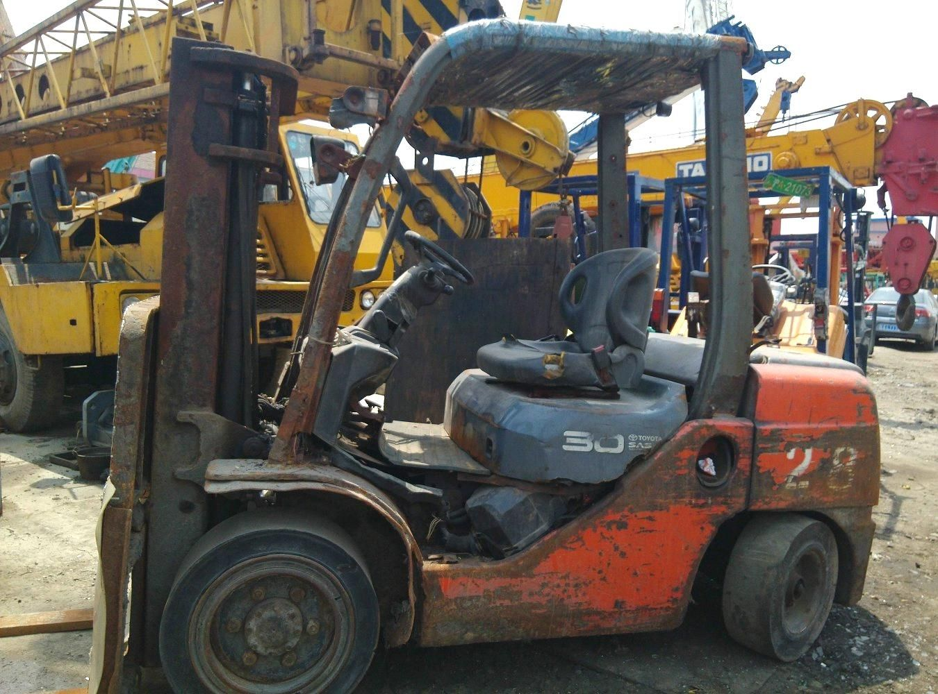 used toyota 3ton forklift original from japan (FD30) - China used